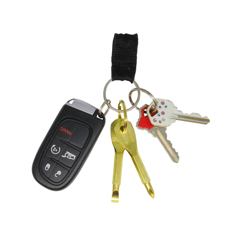 MOQ:24 Gold Travel Tools Keychain