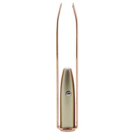 MOQ:12 Rose Gold LED Tweezers
