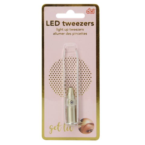 MOQ:12 Silver LED Tweezers
