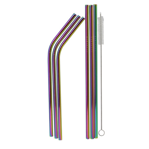 MOQ:6 Iridescent Metal Straws