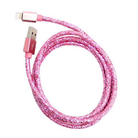 MOQ:12 Glitter Cable: Pink