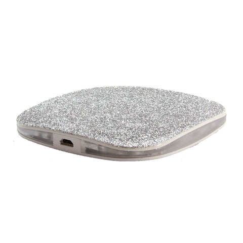 MOQ:6 Glitter Wireless Charger: Silver