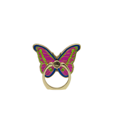 MOQ:12 Enamel Phone Ring: Butterfly