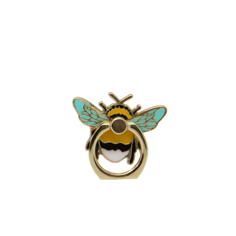 MOQ:12 Enamel Phone Ring: Bee