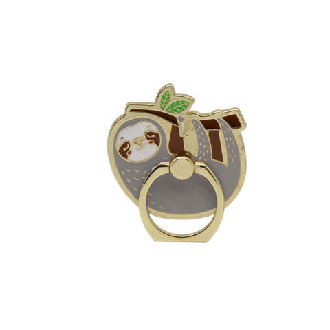 MOQ:12 Enamel Phone Ring: Sloth