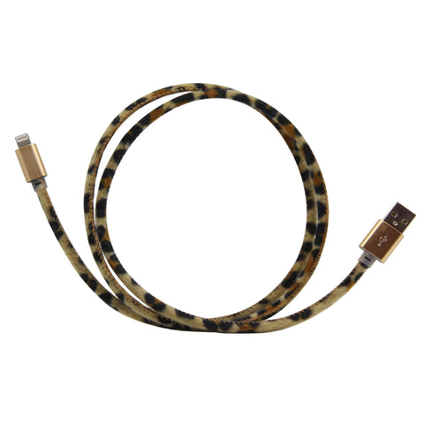MOQ:6 Plush Fur Cable for iPhone™: Leopard