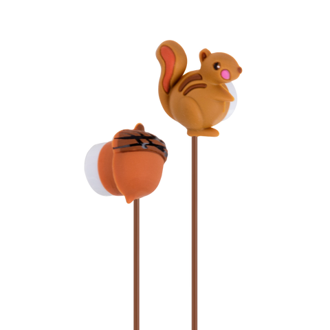 MOQ:10  Earbuds - Squirrel and Nut