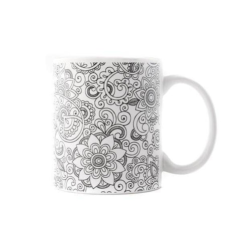 coloring coffee mug oasis design