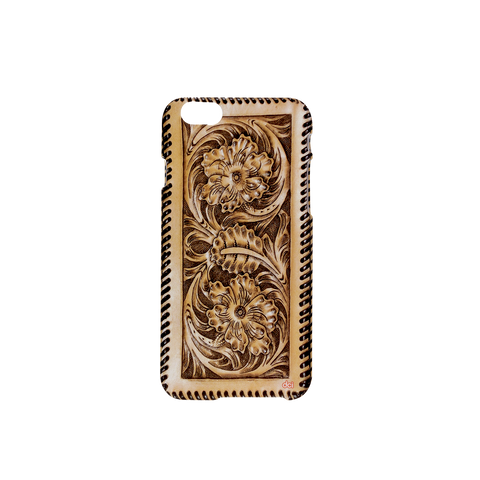 MOQ:12 Hard Cover for iPhone 6 - Tooled Leather