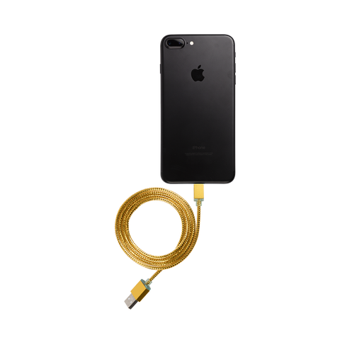 Glimmer USB Cable for iPhone - Gold