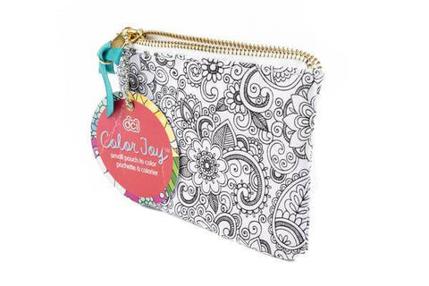 coloring canvas pouch with oasis design