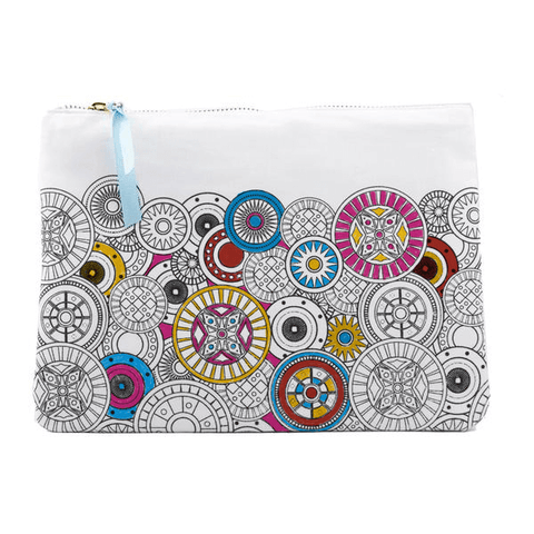 partially colored canvas pouch from color joy