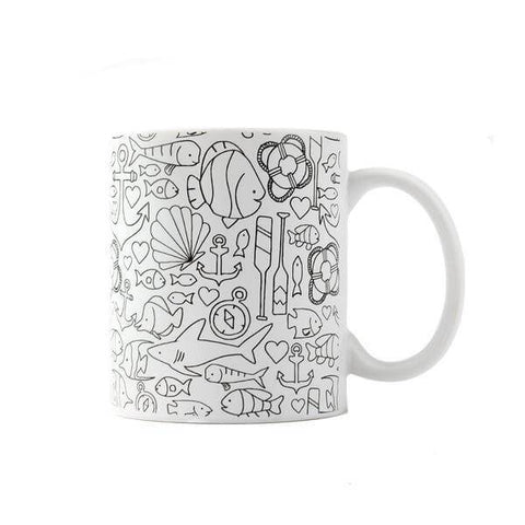 color joy nautical coloring coffee mug