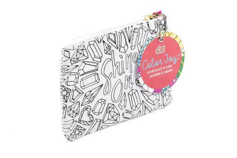 image of a shine on themed coloring canvas pouch