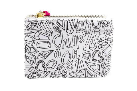 shine on themed coloring canvas pouch