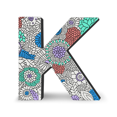 MOQ:5 Color Joy Block Letters: K