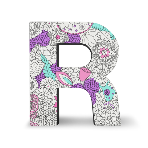 MOQ:5 Color Joy Block Letters: R