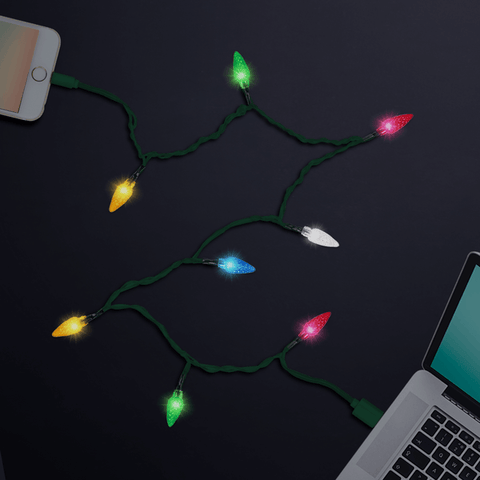 lit merry LED charger for iphone