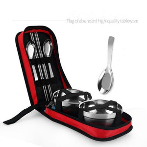Outdoor Stainless Steel Tableware Camping Cutlery.