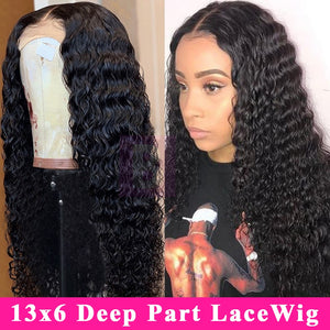 Deep Wave Lace Front Human Hair Wig