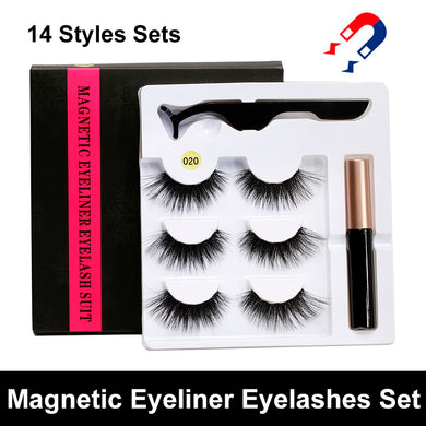 5 Magnet Eyelashes and Liquid Eyeliner Set