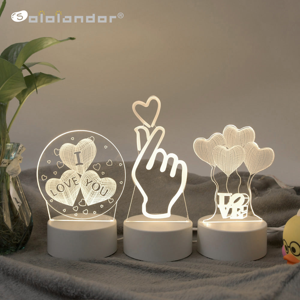 3D LED Novelty Illusion Night Lamps