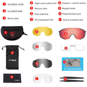 Polarized 5 Lens Cycling Sunglasses