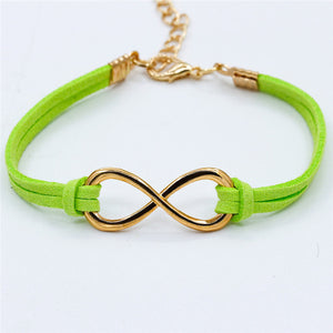 Infinity 8 Cross Leather Bracelet ( 7 variants )