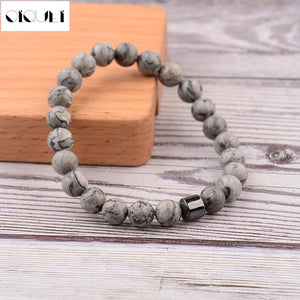 Classic Nature Stone Beads Charm Bracelet ( 24 variables )