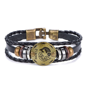 Zodiac Signs Charm Bracelet ( 12 Zodiacs  available )