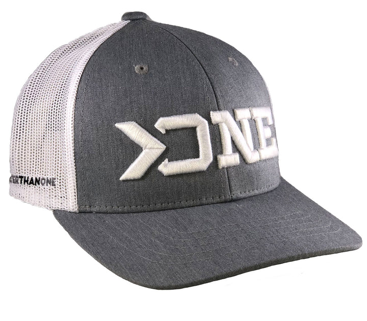(SOLD OUT)GREATER THAN ONE TRUCKER HAT-GREY/WHITE (YOUTH)