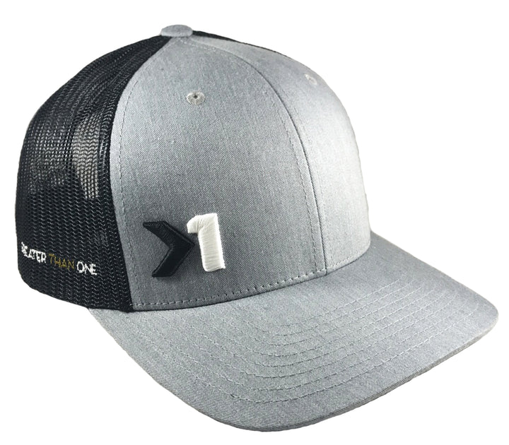 (SOLD OUT)ANTHEM TRUCKER SNAPBACK HAT - HEATHER GREY/BALCK