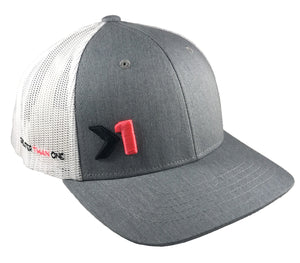 ANTHEM TRUCKER HAT (HeatherGrey/White/Pink) - Greater Than