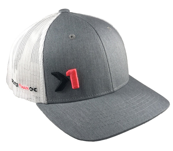 (SOLD OUT)ANTHEM TRUCKER HAT-GREY/WHITE/PINK (YOUTH)