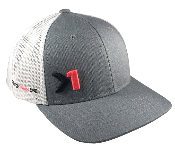 ANTHEM TRUCKER HAT-GREY/WHITE/PINK (YOUTH)