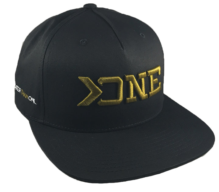 GREATER THAN ONE FLAT BILL HAT-BLACK/ARMY GOLD