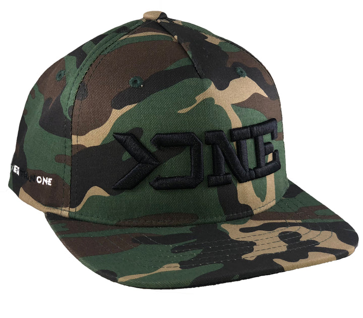 GREATER THAN ONE FLAT BILL HAT-CAMO (YOUTH)