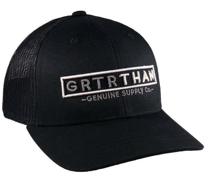 STREAMLINE TRUCKER HAT BLACK (YOUTH)