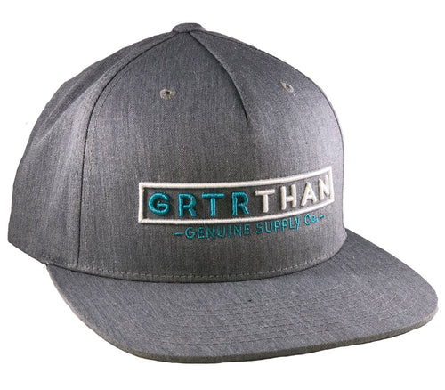 STREAMLINE PINCHED FRONT FLAT BILL (Heather Grey) - Greater Than
