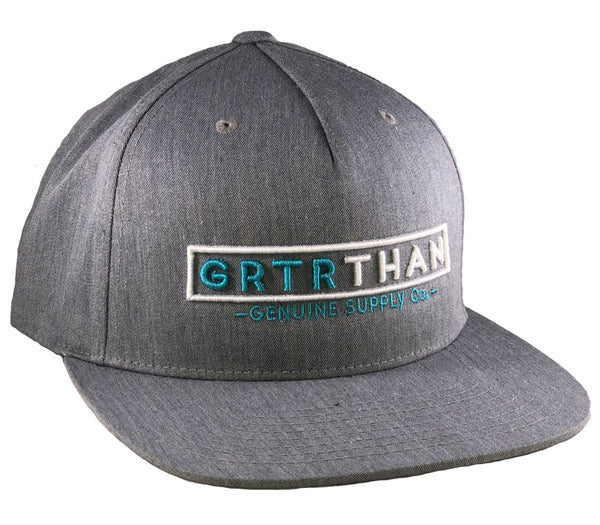 (SOLD OUT)STREAMLINE FLAT BILL HAT-GREY/TEAL