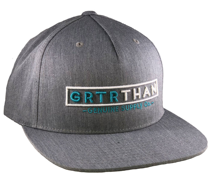 STREAMLINE FLAT BILL HAT-GREY/TEAL