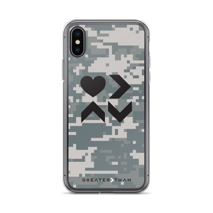 CAMO LOVE IS GREATER THAN HIGHS & LOWS iPHONE CASE