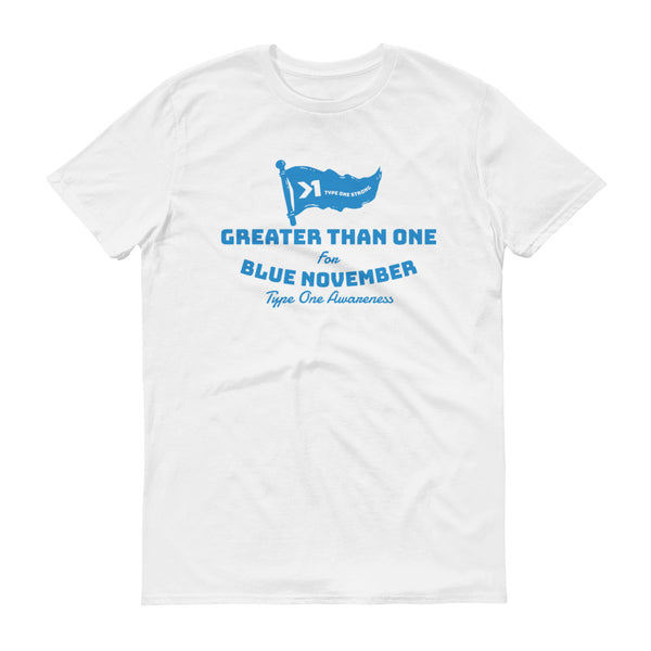 MENS BLUE NOVEMBER FINISH LINE TEE