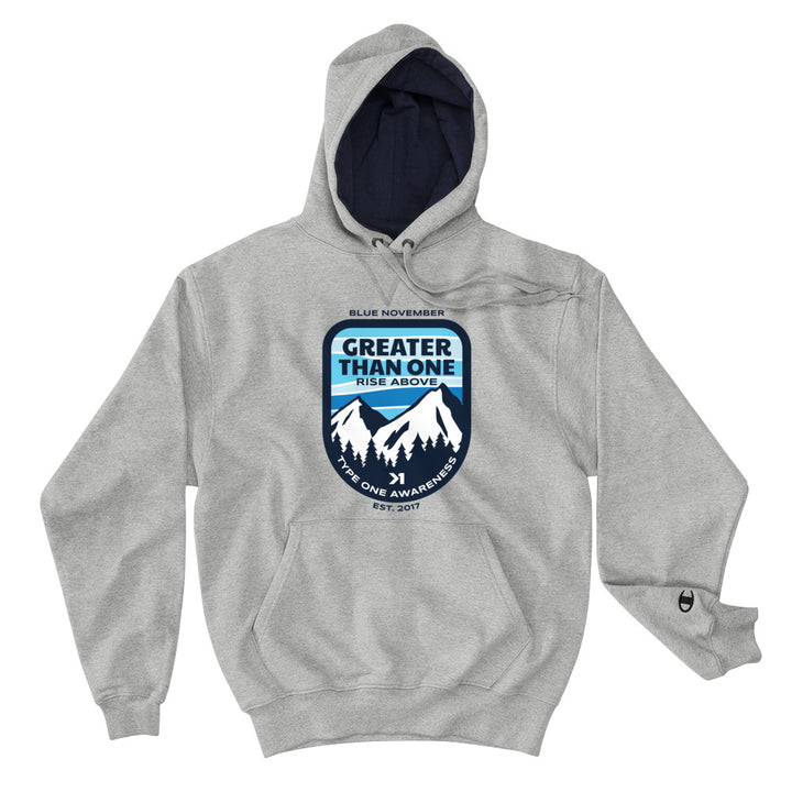 BLUE NOVEMBER MOUNTAIN TOP CHAMPION HOODIE