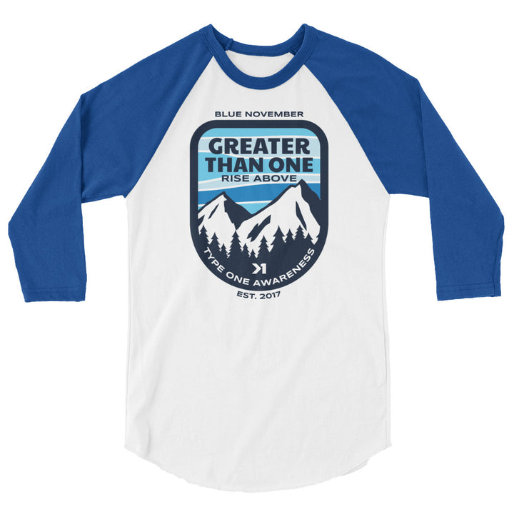 MENS MOUNTAIN TOP 3/4 SLEEVE REGLAN