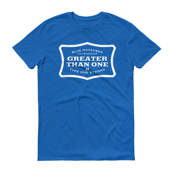 MENS BLUE NOVEMBER GAS TEE