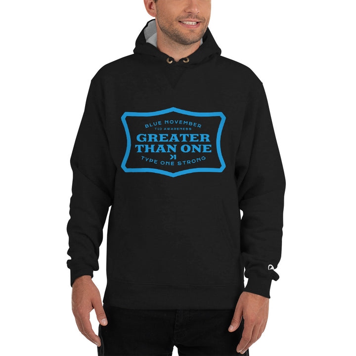 BLUE NOVEMBER GAS CHAMPION HOODIE
