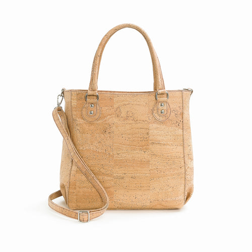 Natural Cork Shoulder Bag - Liore's Premium Cork