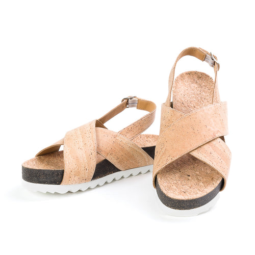Vegan Cork Sandals For Women - Liore's Premium Cork