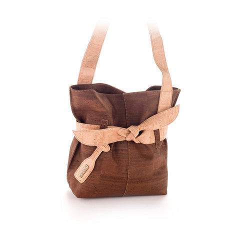 Vegan Cork Shoulder Bag for Women - Liore's Premium Cork
